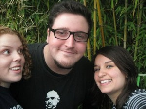 Rachel, Jorge and Rease at a Theme Park outside Buenos Aires