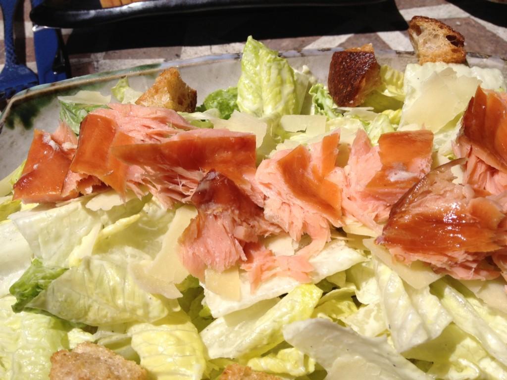 salmon wasabi salad