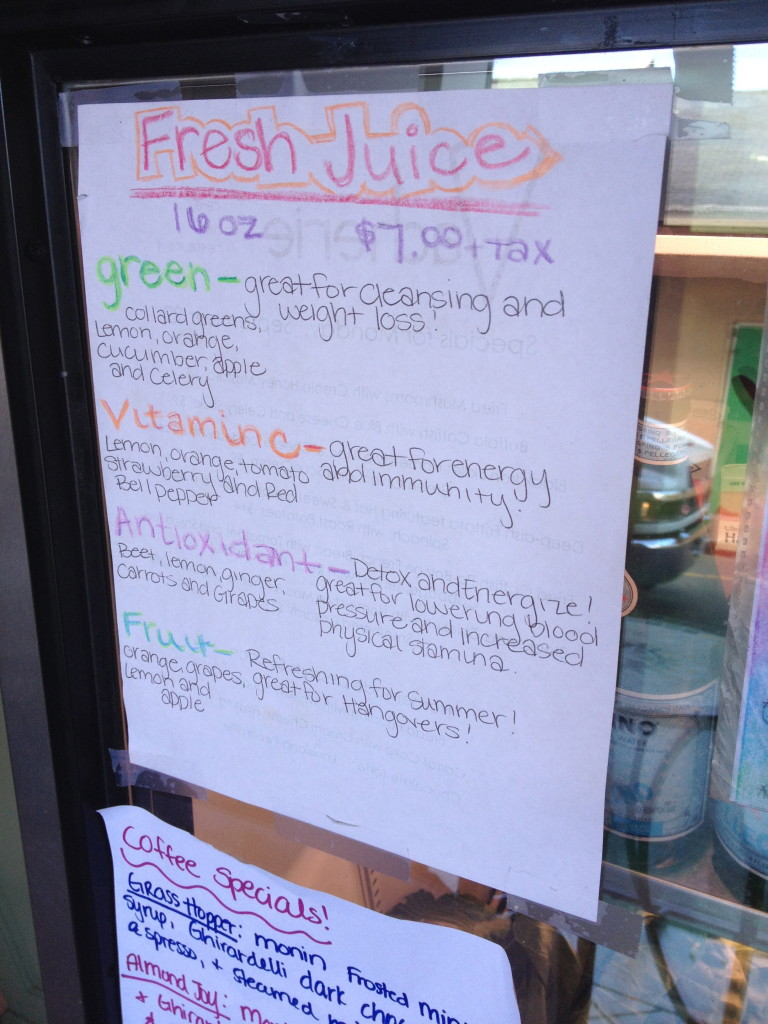 Vacherie Juice Options