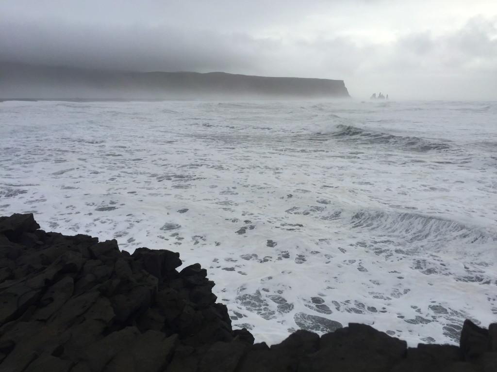 View from the cliffs at Dyrhólaey beach