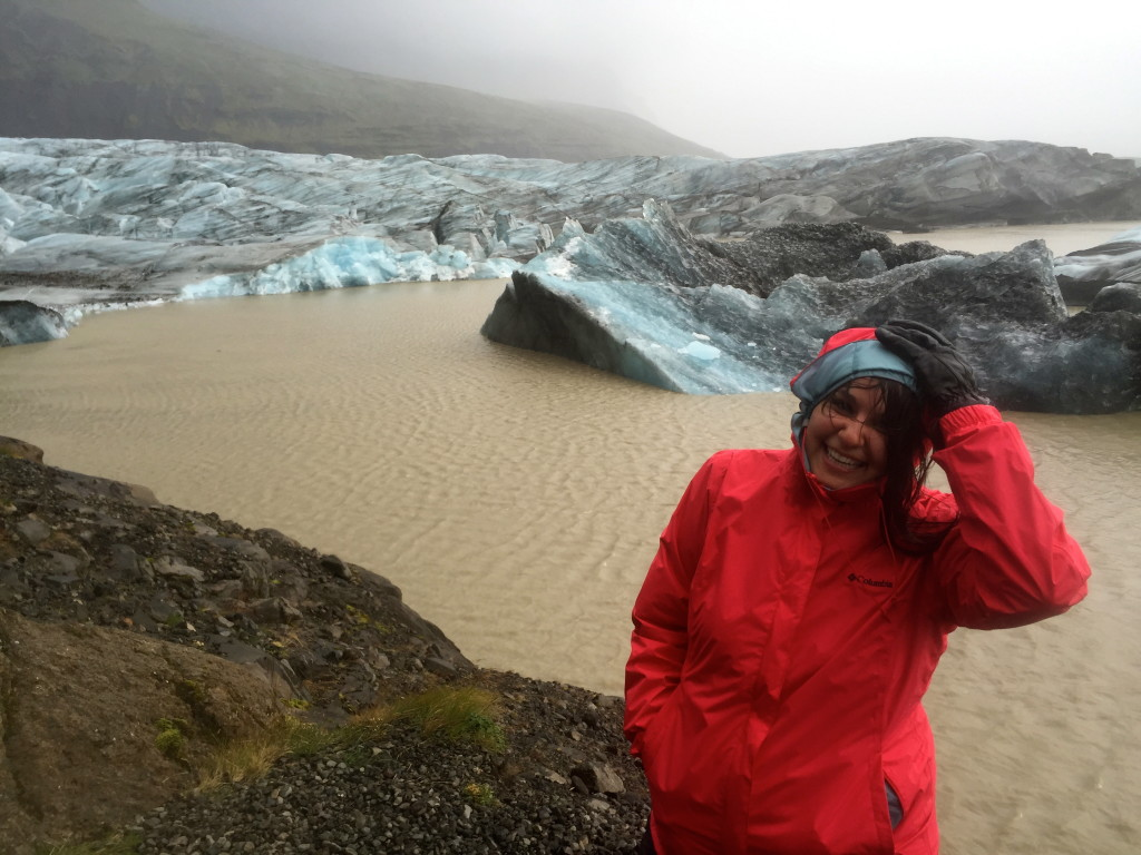 It was windy and rainy, but how could I do anything but smile with this incredible view?