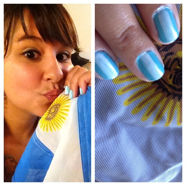 That was me 2 full years after leaving Argentina, still completely decked out for a World Cup game.