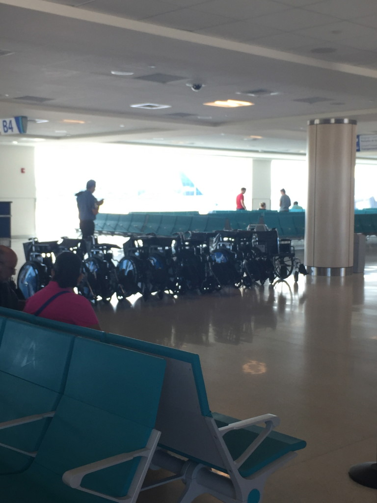Honestly, this isn't even that many. Some gates have 7-12 chairs!