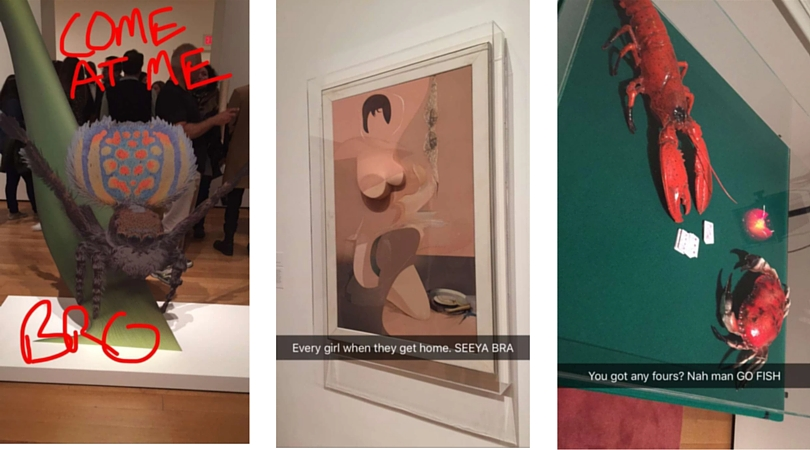 How I snapchat The Museum of Modern Art in NYC.