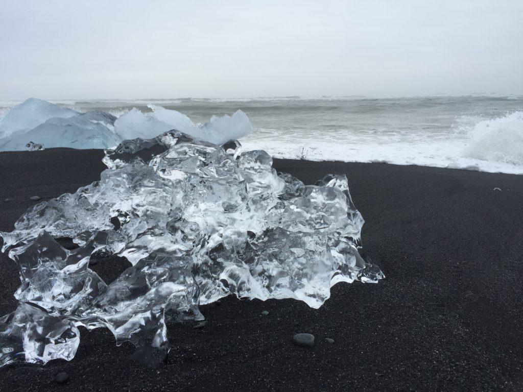 glacier on beach favorite island iceland